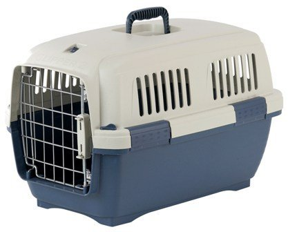 Marchioro Clipper Cayman 3 Pet Carrier, Small/Medium, 25-inches, Tan/Blue