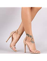Womens Suede Lucid Simple Style Stiletto Sandals
