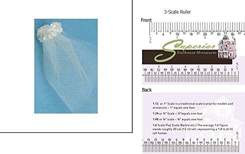 Dollhouse Miniature Bridal Veil (Bridal Miniatures)