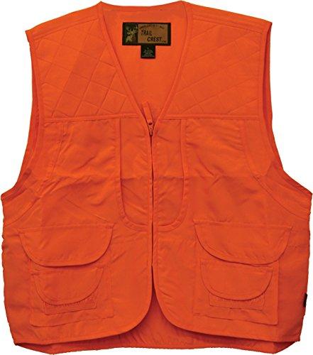 Blaze Orange Hunting Vests (Trail Crest Men's Blaze Orange Safety Front Loader Vest W/ Magnet, XL)
