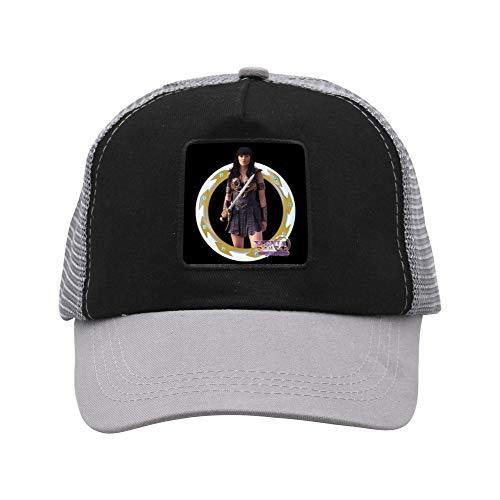 Adjustable Grid Baseball Cap Dad Hat Xena Princess Warrior Trucker Cap for Mens Womens Gray -