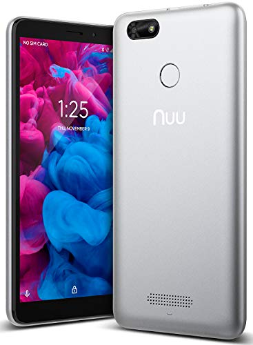 NUU Mobile A5L Unlocked Cell Phone – 5.5″ Android Smartphone – Silver