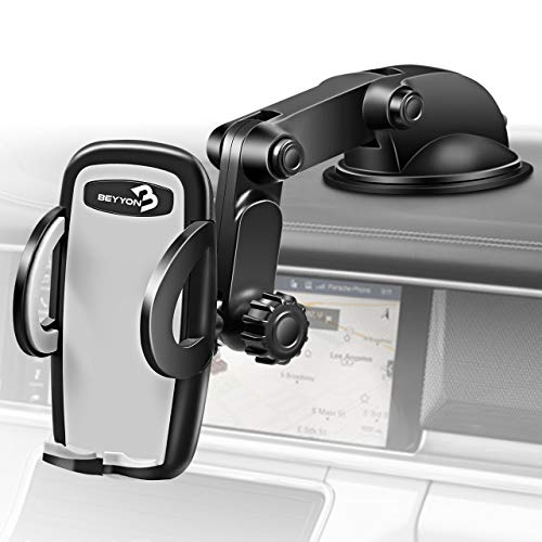 Cell Phone Holder for Car - BEYYON Dash Mount Cell Phone Holder for iPhone 11 Pro Xs Max XR X 8, Samsug Galaxy S10+ S9 S8,Note 9, LG, Huawei, etc.