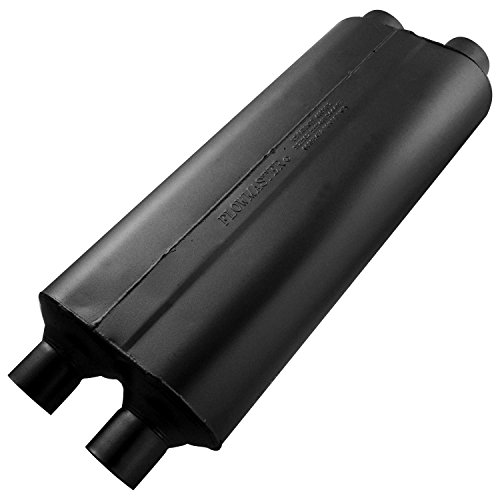 - Flowmaster 524704 70 Series Muffler - 2.25 Dual IN / 2.25 Dual OUT - Mild Sound