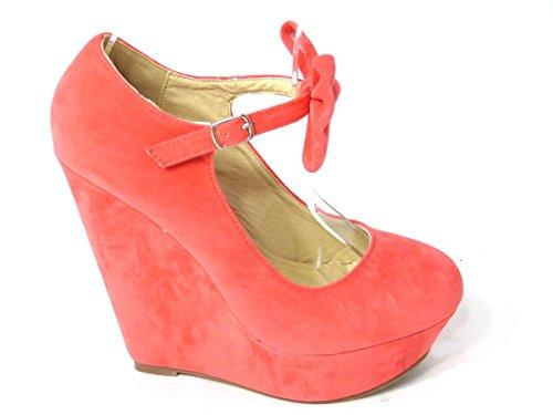 Sko's Pink Femme kim Coral Compensés Talons rTqra