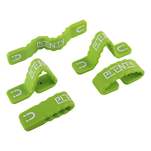 Shirts Refrigerator Magnet (3 Pack Multi-Function Magnetic Silicone Band Durable Reusable Cable Tie/Smartphone Stand/Earbud Holder/Fridge Magnets/ Money Clips/Bookmark/Hanger Organizer. Silicone Clip Wrapping Solution.)