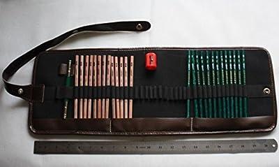 Roll up Pencil Case + Sketch Drawing Marco Chuanghu + Sharpener + Extender Set