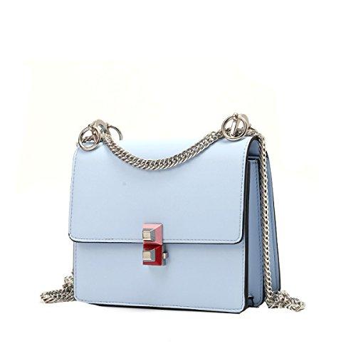 Yy.f Nuevo Bolso Hebilla Bolso Del Color Marea Paquete Diagonal Pequeño Cuadrado Cadena De Mini-paquete De 3 Colores Blue