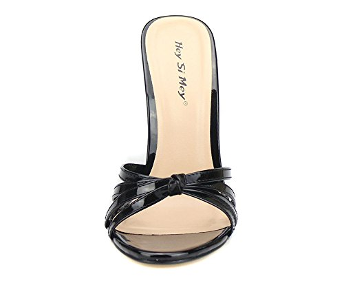 Red Peep Dress 40 Slip Party Toe Size Slippers Slingback High Black Sandals Heel Women's 49 Summer On Ladies Black Shoes ZPL Stiletto 6awqWzH7n