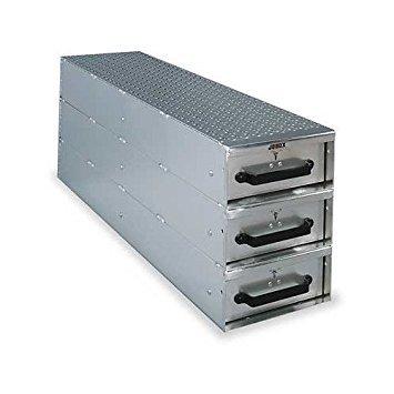 (JOBOX 1408980 3-Drawer Long Stacked Heavy-Duty Aluminum Drawer Storage - (12