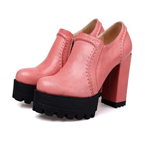 Platform Pink Womens BalaMasa Solid APL10750 Shoes Pumps Urethane Mule PExfx8nBR