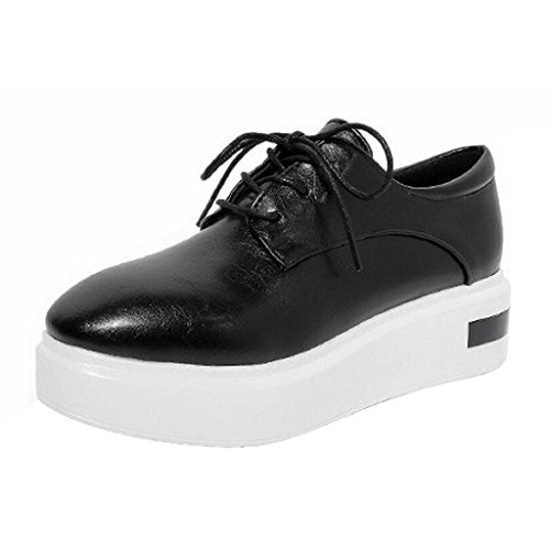 Dear Time Women Lace Up Unlined Creepers Shoes Black pIWWlxWkwp