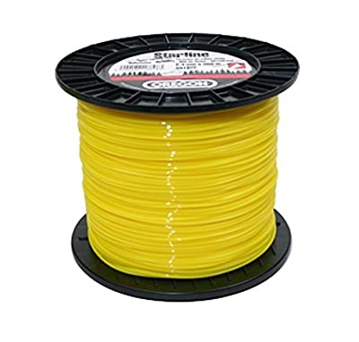 Oregon Yellow Star Line 99532E Round Trimmer Line for Low Grass with Five Cutting Edges - Spool by OREGON