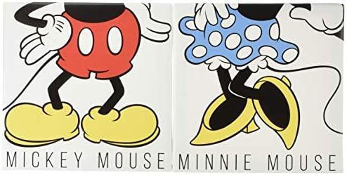 ディズニー ポスター ミッキーマウス ミニーマウス 30cm × 30cm セット 日本製 DSN-0229_0230