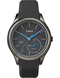 Timex Men's TW2P94900L3 Sport IQ+ Move Blue Hands with Grey Silicone Strap Watch