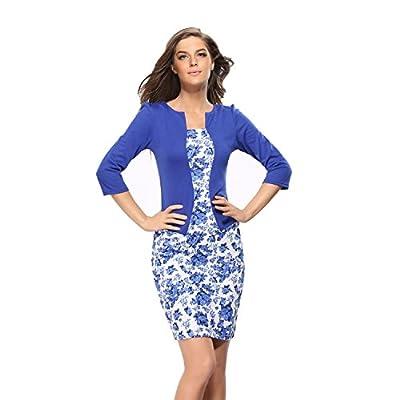 Caracilia Women Wear to Work Business Party Bodycon One-Piece Dress