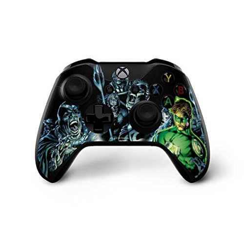 Skinit Green Lantern and Villains Xbox One X Controller Skin - Officially Licensed Warner Bros Gaming Decal - Ultra Thin, Lightweight Vinyl Decal Protection (Green Lantern Video Game Xbox)