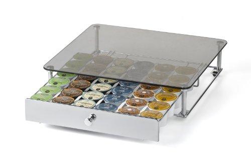 Nifty 6470 Keurig Brewed Glass Top K-Cup Rolling Drawer
