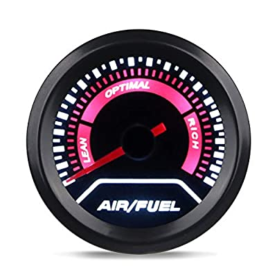 WATERWICH Air/Fuel Ratio AFR Gauge Kit 2inches 52mm 12V Universal for Car SUV Vehicle Automotive: Automotive