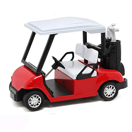 Cathy Clara New 1:20 Scale Mini Alloy Pull Back Golf Cart w/Clubs Diecast Model Vehicle Toy