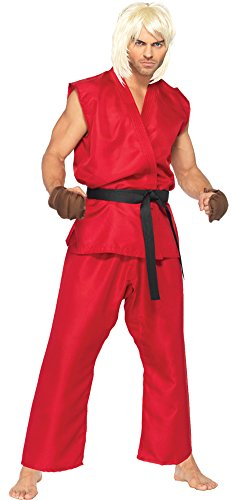 Mens Halloween Costume- Street Fighter Ken Adult Costume Medium-Large