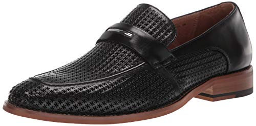 STACY ADAMS Men's Belvan Slip-on Penny Loafer, Black, 9.5 M US (Stacy Slip On Adams Mens)