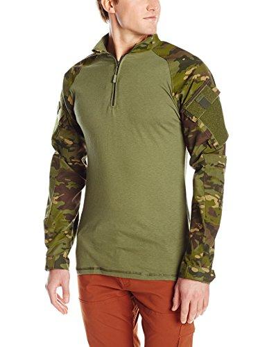 Atlanco TRU-SPEC Men's 1/4 Zip Combat Shirt, Multicam Tro...