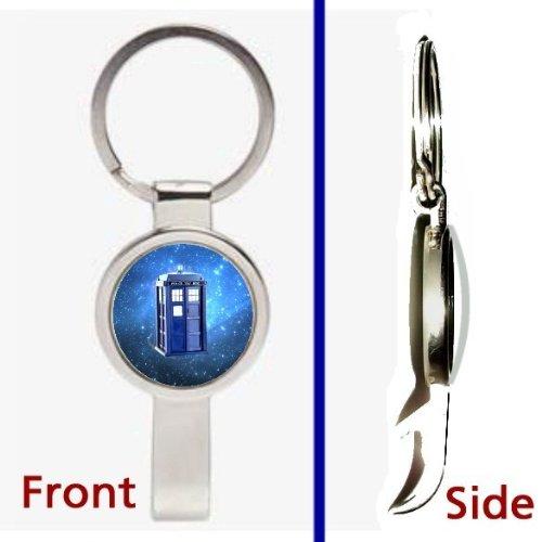 Doctor Dr. Who Tardis Prop Pennant or Keychain Silver Tone Secret Bottle Opener
