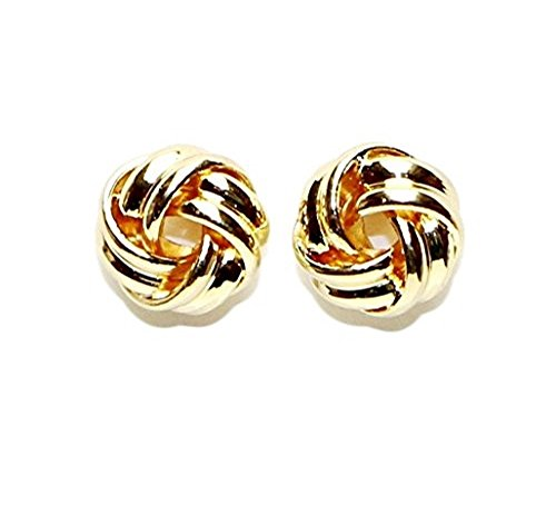 Buyless Fashion Hypoallergenic Surgical Steel Gold Plated Love knot Ball Earrings (Bullet Cartilage Earring compare prices)