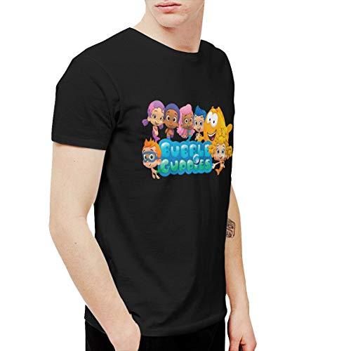 Douglas-A Mens Particular Bubble Guppies Cartoon T-Shirts Black]()
