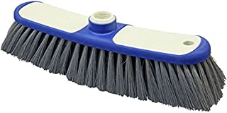 Bürstenmann Indoor Broom with Two Component Plastic Body and Synthetic Bristles, White/Blue