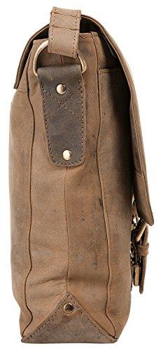 Harolds Kuriertasche 40 x 30 x 10 cm Rind-Leder Messenger Schulter-Tasche 339903
