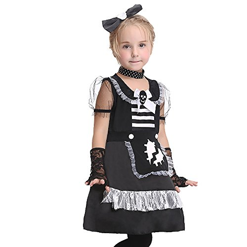 Uleade Kid's Maid Costume Halloween Festival Performance Costume Party Cosplay Dresses Outfit -