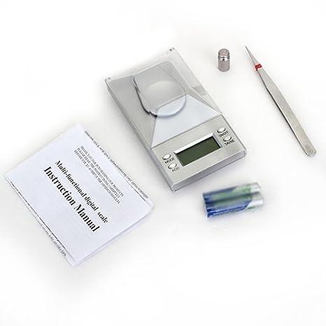 SODIAL(R) 10g/0.001g Bascula Digital de Precision Balanza Joyeria Portatil con 2 Bateria: Amazon.es: Oficina y papelería