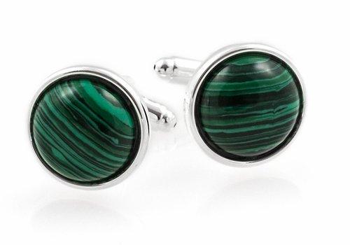 Green Sterling Silver Cufflinks - 2
