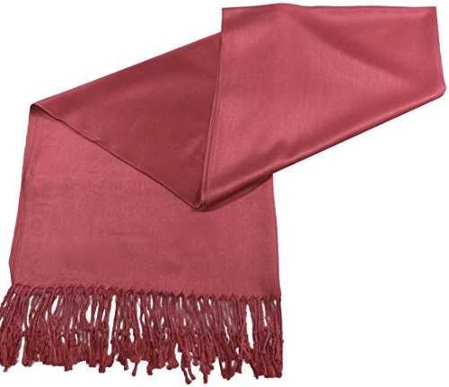 French Rose Pink Solid Color Design Shawl Scarf Wrap Pashmina CJ ApparelNEW