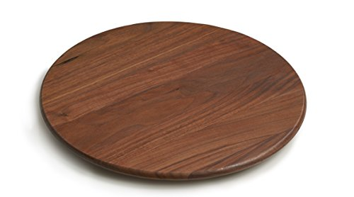 "J.K. Adams Round Lazy Susan with Clear Finish, 18"", Walnut made in New England"