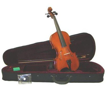 Merano MV100 1/8 Size Student Violin with Case and Bow+Extra Set of Strings, Extra Bridge, Rosin, Pitch ()