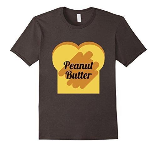 Peanut Butter And Jelly Sandwich Costumes (Men's Peanut Butter & Jelly Sandwich Bread Toast Halloween Costume Large Asphalt)