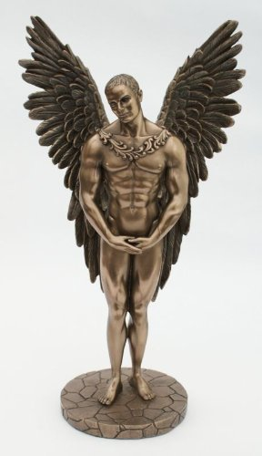 Adonis Painting - Cold Cast Bronze Angel Statue Entitled Heaven Sent - Adonis Sculpture Inspired By The Mythical Icarus by Veronese Studio