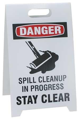 Floor Safety Sign 20 x 12 Plastic