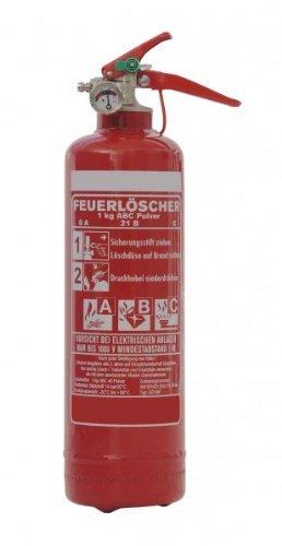 1kg ABC Pulver Auto Feuerlöscher, DIN, EN 3, inkl. Andris® Prüfnachweis mit Jahresmarke und KFZ-Halter