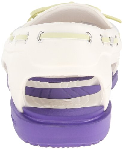 Crocs Womens Plage Ligne Bateau Chaussure Oyster / Ultraviolet