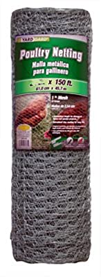 Mat Midwest Air Tech 308432B 48-Inch-by-150-Foot 1-Inch Mesh 20-Gauge Hexagonal Poultry Netting