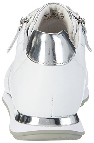 Sneakers Comfort Gabor Da Donna, Grigio Bianco (bianco / Argento (vernice) 50)