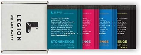 Legion ミニパッド サンプラーセット ストーンヘンジ アクア アーティストパッド 12枚 各2.5 x 3.75インチ (L21-MINIPADKITAQ)
