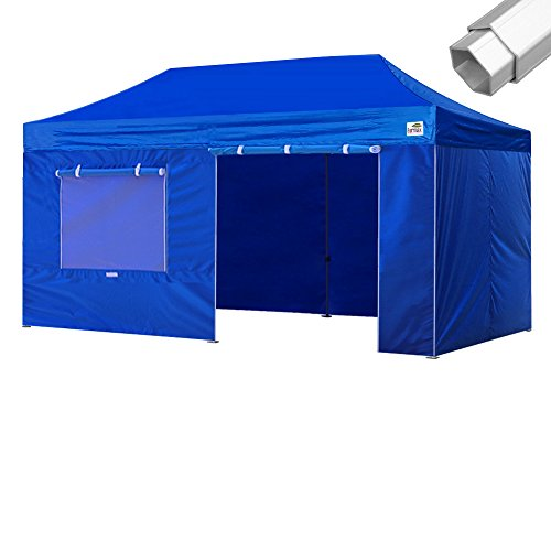 Eurmax Pro 10x20 Pop up Canopy Outdoor Tent With 4 Walls +Ro