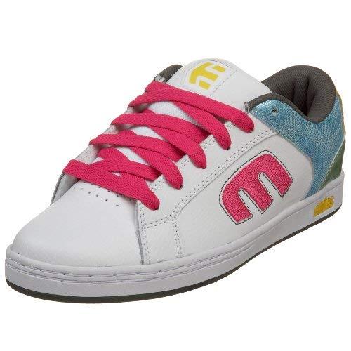 (Etnies Women's Digit Sneaker,White/Blue/Green,7.5 M)