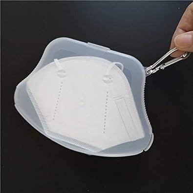 pour le garder propre et hygi/énique il se ferme herm/étiquement Masque Holder Box en plastique.