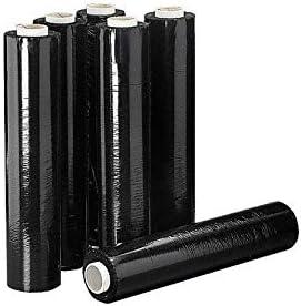 Film de plástico negro 6 rollos de 2 kg/rollo x500mmx23my